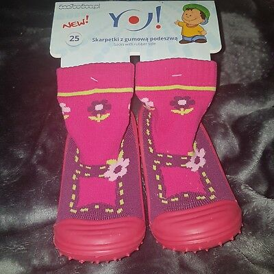 Kids Socks with rubber sole Girls Boys Slipper  Toddler Non Slip