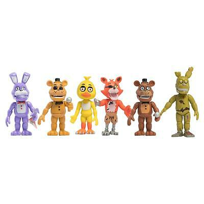 Five Nights Freddy S Action Fnaf Figure Figures Toys New 6Pc Gift Set Nightmare