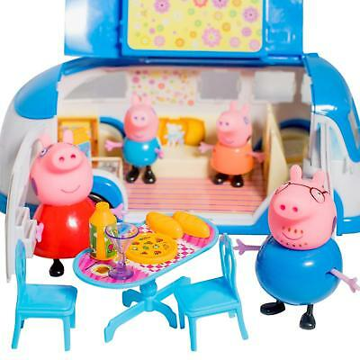 Mini Pig Peppa Set New Toy Play Figures Family George Expanding Bus Picnic