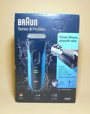 Braun Series 3 ProSkin 3040s Rechargeable Wet and Dry Electric Shaver Micro Comb