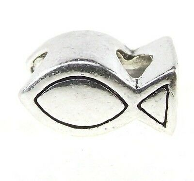 Christian Fish Symbol Ichthus Add a Bead for Silver European Charm Bracelet