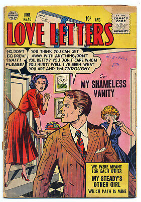 LOVE LETTERS 40 (1955 Quality) GGA, RARE; Only ebay; NO CGCs; Good 2.0