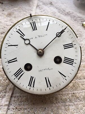 Rare Antique Roehm & Wright Detroit Dial And French Movement For Restoration