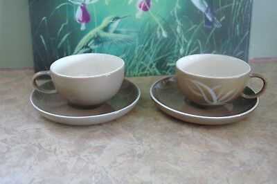 """Winfield Hand Crafted China - DESERT DAWN - U.S.A. - 5 7/8"""" Saucers ONLY (2)"""