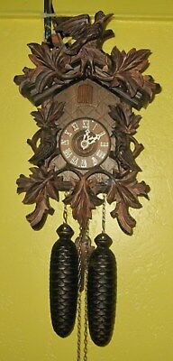 REGULA Black Forest, 8 Day CUCKOO CLOCK Made in GERMANY Working