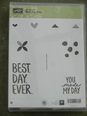 "Stampin Up! Holz-Stempelset ""Best Day Ever""  NEU!"