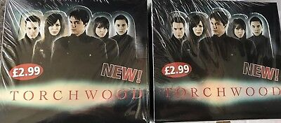 TORCHWOOD TRADING CARDS 2 X Full SEALED BOXES-64 Packets In Total - Doctor Who