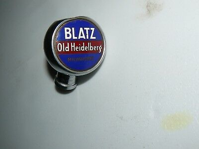Blatz Old Heidelberg Milwaukee Tap Handle Knob ,porcilin And Chrome