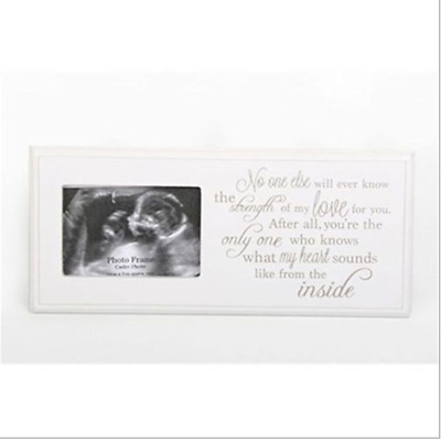 Baby Scan Picture Photo Frame Plaque Pregnancy Baby Shower Gift Memory word sign