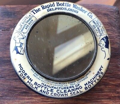 Andy Gump Rapid Bottle Washer Co. Paperweight Mirror Brush