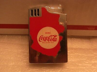 Vintage Working Windup Musical Coca-Cola Lighter Japan Hadson Blue Bird Untested