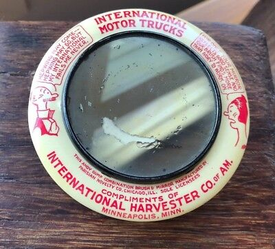 Andy Gump International Harvester Co. Paperweight Mirror Brush