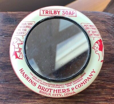 Andy Gump Trilby Soap Haskins Brothers & Company Paperweight Mirror Brush