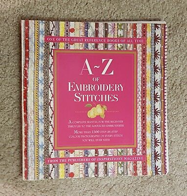 A-Z of EMBROIDERY STITCHES -  by Country Bumpkin Step by Step Guide