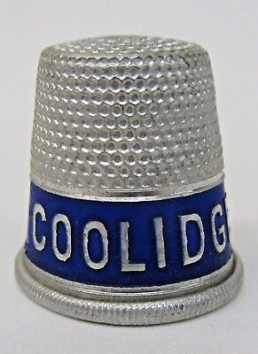 circa 1924 COOLIDGE AND DAWES president campaign SEWING THIMBLE