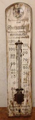 Antique/Vintage 5 Drops Rheumatism Wooden Outdoor Thermometer Marshall MFG.