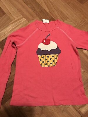 24d94900fbcc Mini Boden Girls Long Sleeved Cupcake Appliqué Top 9-10. Fab Condition