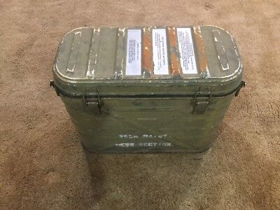 Vintage 1989 U.S. Military Army Food Cooler Container + 3 Metal Food Canisters