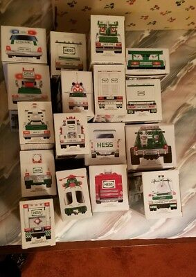 Hess Toy Trucks  lot of 14 New in Box 1993 - 2006