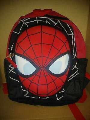 Marvel Ultimate Spider-Man Small/Medium Backpack W/ 2 Water Bottle Cup Holders