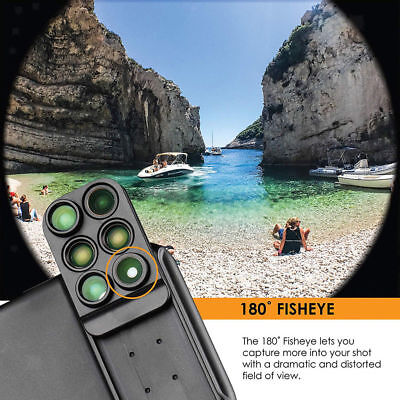 Durable Lens Case  For iPhone XS/XS Max XR Case6 in 1 Dual Optics Lens Kit