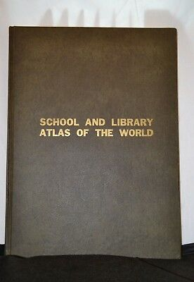 School and Library Atlas of the World Book edited by Fred W. Foster