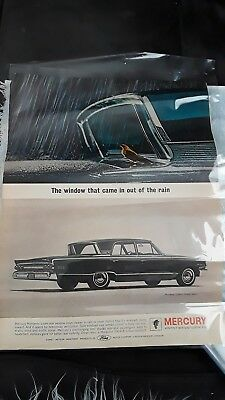 Vtg Magazine Ads - 1963 Mercury Monterey, Campbells Turkey Vegetable Soup(11161)