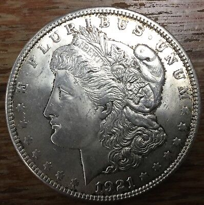 1921 'Morgan' Silver Dollar - EF45