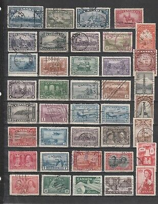Canada - Lot Of 39 Older Used Stamps.