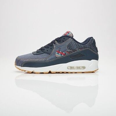 super popular b70c2 a38dc Nike Air Max 90 Premium Afro Punk Denim Shoes Dark Obsidian 700155-402 Size  7.5