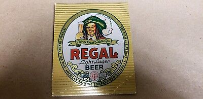 Regal Light Lager Beer Label  w Neck IRTP American Brewing Co.  New Orleans, LA