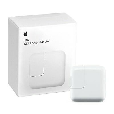 12W Apple USB Power Adapter Genuine Original OEM Wall Plug for iPad and iPhone