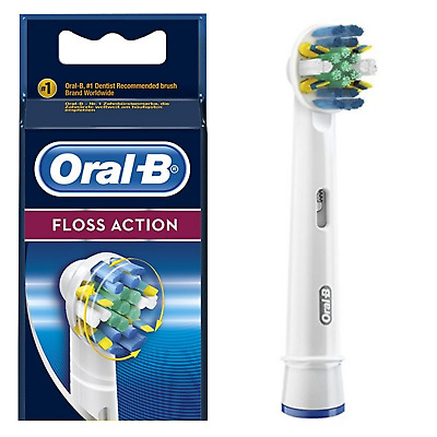 Braun Oral B Floss Action Tooth Brush   Rotating Refill Head.