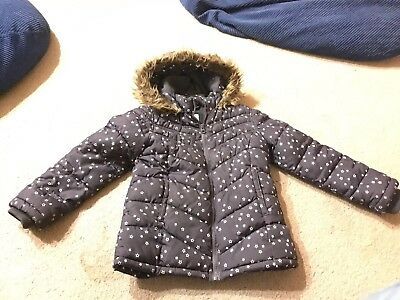Old Navy Small (6-7) Gray Stars Frost Freeze Jacket with Hood Girls
