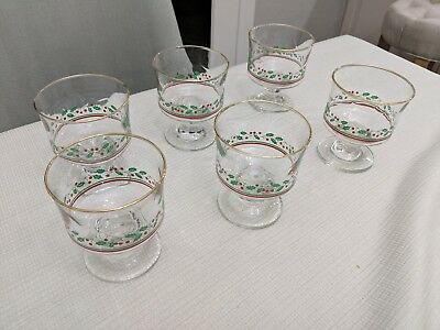 Vintage Arby's Dessert Bowls Custard Dishes Christmas Holly Berry
