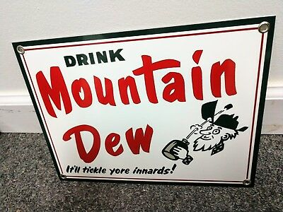 "Mountain Dew soda pop .... Sign ...~12"" wide"