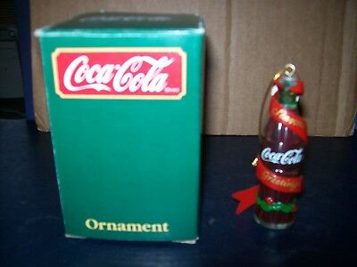 Coca-Cola Coke Bottle Christmas Ornament 38001 New In The Box