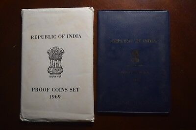 1969 Republic of India coin proof set, album and COA