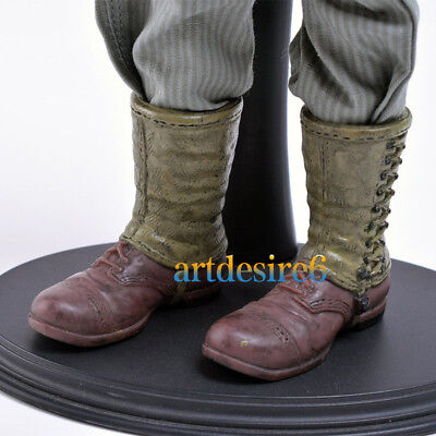 "1/6 Scale WWII US Army Soldiers Green Battle Boots Shoes Model For 12"" Figure"