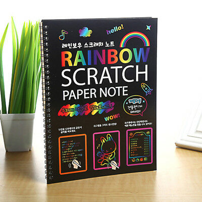 Magic Scratch Art Painting Book Paper Paintings Educational Playing Toys Proper