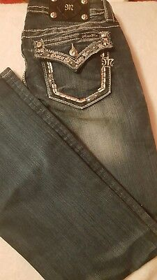NWOT Miss Me Signature Bootcut Jeans - Womens Sz 29 Blue Faded New