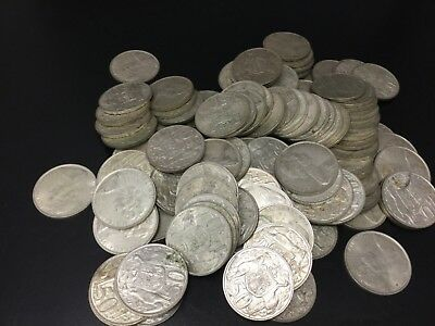 1966 Silver Round 50 cent bulk lot of 100 coins ( High Silver content)