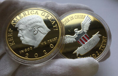 US President Donald Trump 2020 KEEP AMERICA GREAT Silver&Gold Challenge Coin BY