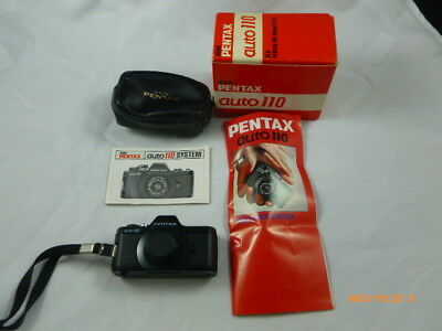 Pentax Auto 110 SRL 24mm F 2.8 Camera with Original Box & Manuals