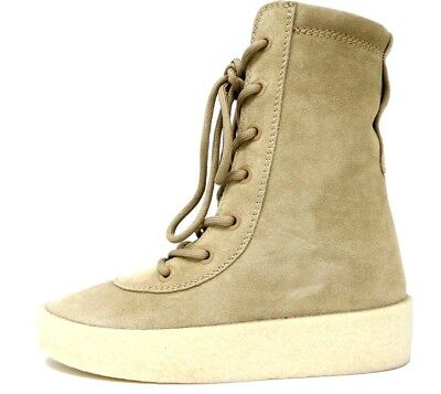 NIB WOMENS YEEZY Season 4 Taupe Thick Suede Crepe Boots 30MM EUR 37 USA 7  KW3601