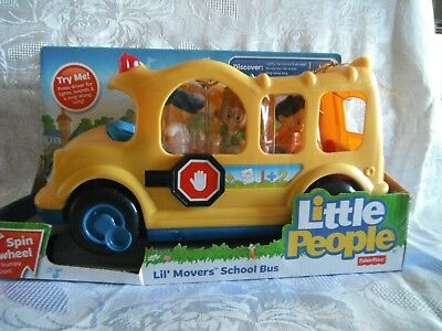 "Fisher-Price Little People ""Lil Movers School Bus"" New"