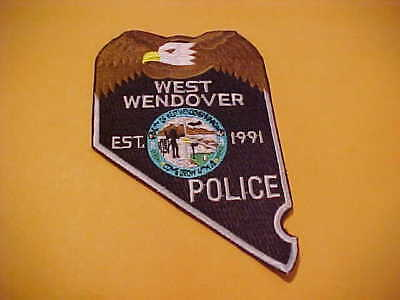 West Wendover Nevada  Police Patch Shoulder Unused