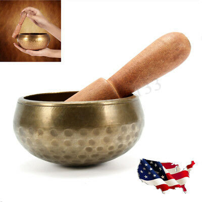 Hand Hammered Metal Tibetan Buddhist Meditation Chakra Copper Yoga Singing Bowl
