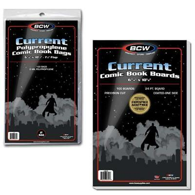 100 Bcw Current Modern Comic Bags And Current Boards