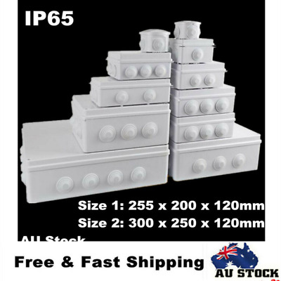 Large ABS IP65 Waterproof Junction Box Universal Electrical Enclosure Cable Case